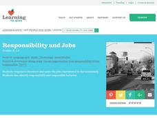 Responsibility and Jobs Lesson Plan