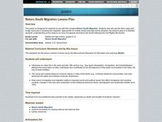 Return South Migration Lesson Plan Lesson Plan