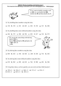 Revise Doubling and Halving Worksheet