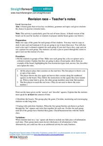Revision Race Lesson Plan
