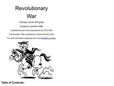 Revolutionary War Lesson Plan