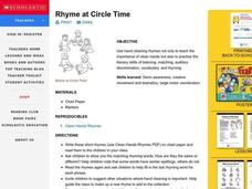 Rhyme at Circle Time Lesson Plan