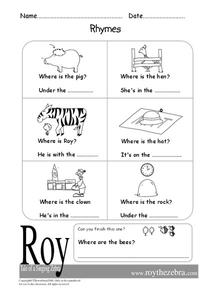 Rhymes Worksheet