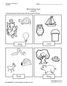 Rhyming Fun Worksheet