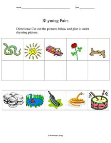 Rhyming Pairs Worksheet