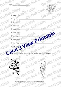 Rhyming Words Worksheet