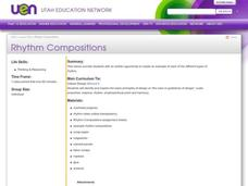 Rhythm Compositions Lesson Plan