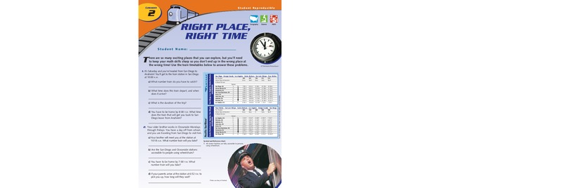 Right Place, Right Time Worksheet