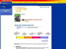 Reading Time Lines Lesson Plan