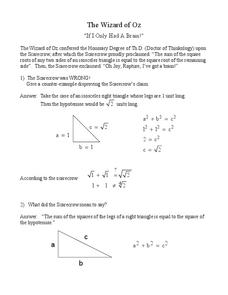 Right Triangles Lesson Plan