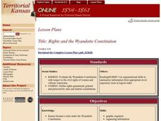 Rights and the Wyandotte Constitution Lesson Plan