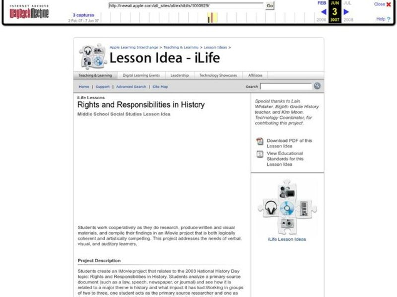 Rights and Responsibilities in History Lesson Plan
