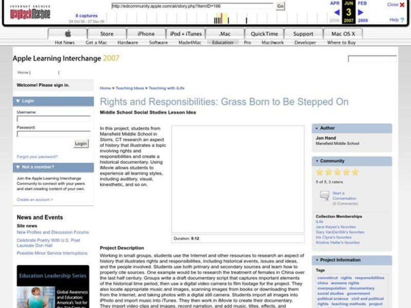 Rights and Responsibilities: Grass Born to Be Stepped On Lesson Plan