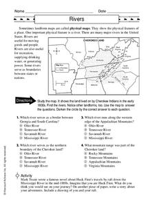 Rivers Worksheet