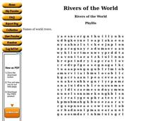 Rivers Of The World Worksheet