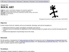 Rock Art Lesson Plan