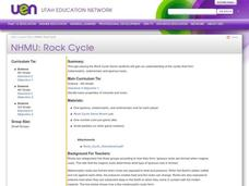 Rock Cycle Lesson Plan
