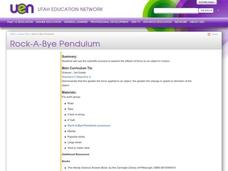 Rock-A-Bye Pendulum Lesson Plan