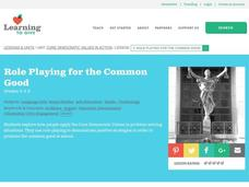 Role Playing for the Common Good Lesson Plan