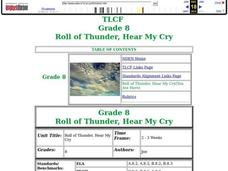 Roll Of Thunder, Hear My Cry Lesson Plan