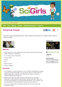 Parachute Parade Activities & Project