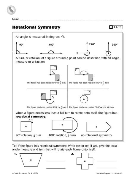 Rotational Symmetry Worksheet for 5th Grade | Lesson Planet