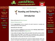 Rounding and Estimating Lesson Plan