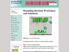 Rounding Decimals Worksheet