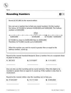 Rounding Numbers Worksheet