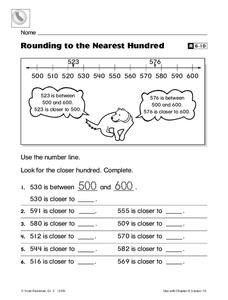 Rounding to the Nearest Hundred Worksheet