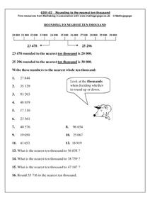 Rounding to the Nearest Ten Thousand Worksheet
