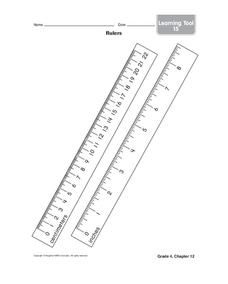 Rulers Worksheet