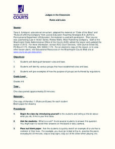 Rules and Laws Lesson Plan