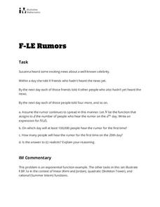 Rumors Activities & Project