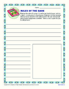 Rules of the Game Printables & Template