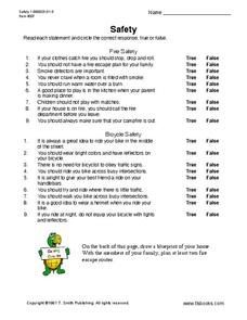 Safety Worksheet