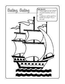 Sailing, Sailing Worksheet
