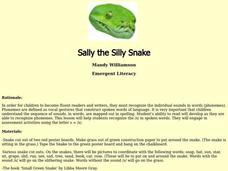 Sally the Silly Snake Lesson Plan