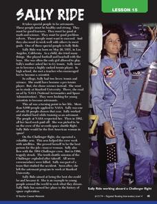 Sally Ride Lesson Plan