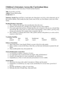 Sarah Plain and Tall Lesson Plan