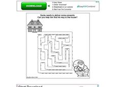 Santa Claus Maze Worksheet