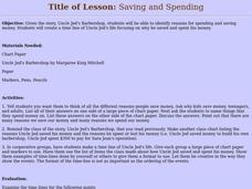 Saving and Spending Lesson Plan