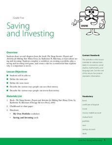 Saving and Investing Lesson Plan