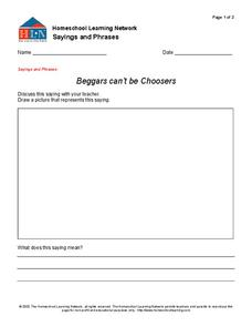 Sayings and Phrases Worksheet