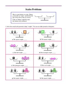 Pan Balance Problems Lesson Plans & Worksheets Reviewed by ...
