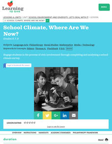 School Climate, Where Are We Now? Lesson Plan