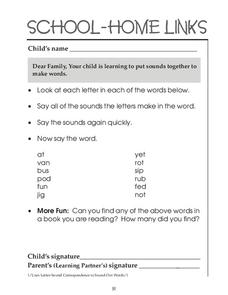 School-Home Links Worksheet