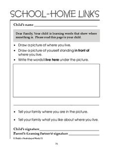 School-Home Links 74 Worksheet
