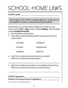 School-Home Links: Compound Words Worksheet