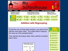 Addition with Regrouping Interactive